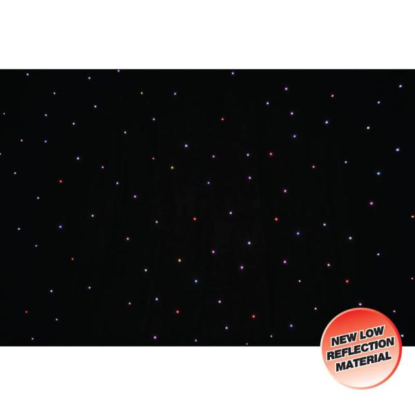LEDJ PRO 6 x 3m Tri LED Black Starcloth ( STAR11 )
