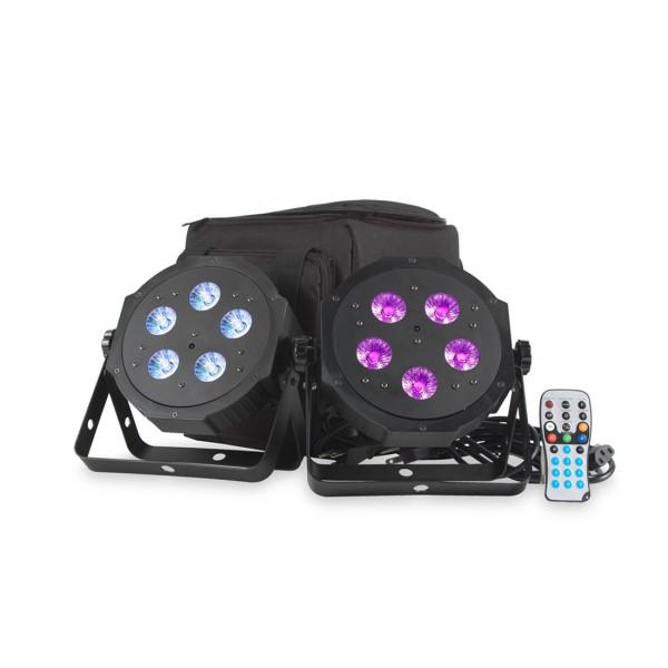 American DJ VPAR PAK LED Par Can Twin Pack Inc Bag And Remote
