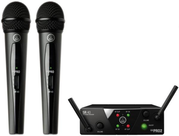 AKG WMS40 Mini Dual Vocal Set Wireless Mic System