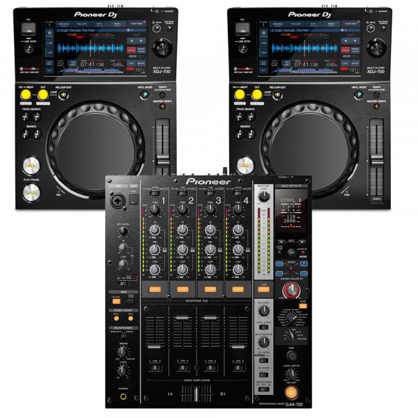 Pioneer XDJ700 with DJM750 package