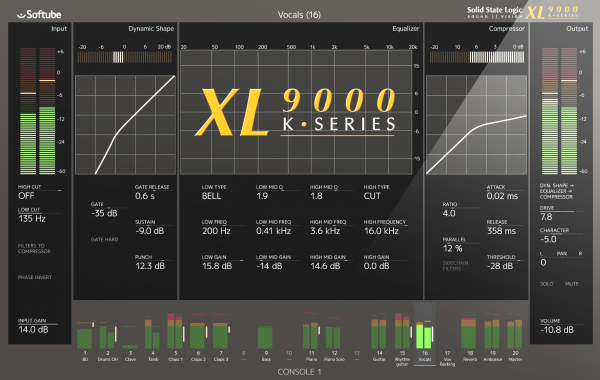Softube SSL XL 9000 K-Series for Console 1 (download code)