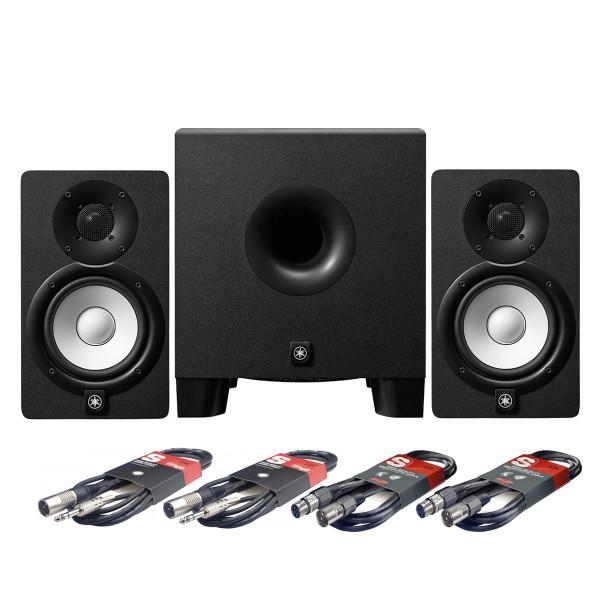 Yamaha HS5 Studio Monitors + HS8S Subwoofer + Cables