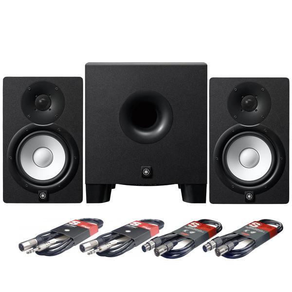 Yamaha HS7 Studio Monitors + HS8S Subwoofer + Cables