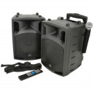 QTX PAV Portable PA Set with UHF Mics, Bluetooth & DVD (178859)