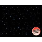 LEDJ 8 x 4.5m Black LED Starcloth Black Cloth, CW (STAR06)
