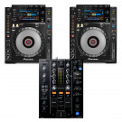 Pioneer 2 x CDJ900 NEXUS + DJM450 CD Player / Mixer Bundle