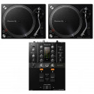 Pioneer DJ 2 x PLX500K + DJM-250MK2 Bundle