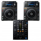Pioneer 2 x XDJ1000MK2 + DJM450 USB Player / Mixer Bundle