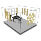 Primacoustic London 10 Acoustic Room Treatment Kit - Black