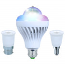 Kam Moonbulb DUO LED Disco / White Rotating Bulb