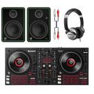 Numark Mixtrack Platinum FX DJ Bundle With CR5-X Monitors + Headphones