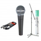 Shure SM58 Bundle with Microphone Stand & Cable