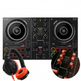 DDJ-200 + Orange Knobs & Faders Pack + HDJ-CUE1 Headphones