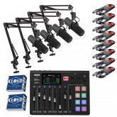 Rodecaster Pro Bundle with 4 x Shure SM7B