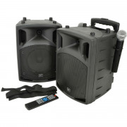 View and buy QTX PAV Portable PA Set with UHF Mics, Bluetooth & DVD (178859) online