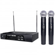 View and buy KAM KWM11 Dual VHF Wireless Mic System (174.1 -174.5Mhz) online