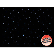 View and buy LEDJ 6 x 3m LED Starcloth System, Black Cloth, CW (STAR07) online