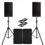View and buy RCF ART 910-A Pair with Covers, Stands & Cables  online