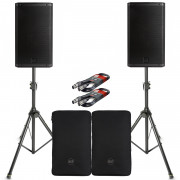 View and buy RCF ART 912-A Pair with Covers, Stands & Cables  online