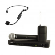 Buy the Shure BLX1288UK-P31 Shure PG Headset Wireless Combo System with PG58 Handheld  online