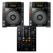 View and buy Pioneer DJ 2 x CDJ850K + DJM450 CD Player / Mixer Bundle online