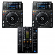 View and buy Pioneer 2 x XDJ1000MK2 + DJM450 USB Player / Mixer Bundle online