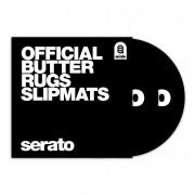 View and buy Serato Official Butter Rug Slipmats - Black (Pair)  online