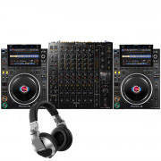 Buy the Pioneer DJ 2 x CDJ-3000 + DJM-V10 + HDJ-X10-S Package online