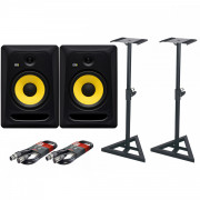 View and buy KRK Rokit Classic 8 Pair with Stands & Cables online