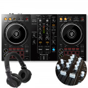 View and buy DDJ-400 + White Knobs & Faders Pack + HDJ-CUE1 Headphones online