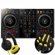 View and buy DDJ-400 + Yellow Knobs & Faders Pack + HDJ-CUE1 Headphones online