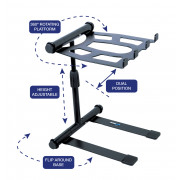 View and buy Novopro LS22M Adjustable Folding Laptop Stand - Black online