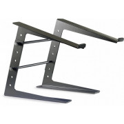 View and buy Stagg DJS-LT10 22224 Solid Adjustable DJ Pro Laptop Stand - Metal Black online