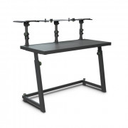 View and buy Gravity FDJT01 Dj-Desk With Flexible Loudspeaker And Laptop Tray - Black online