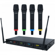 View and buy Kam KWM Quartet 4pc Wireless Handheld Mic System online