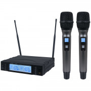 View and buy KAM KWM1960 HH V2 Twin UHF Radio Mic System  online