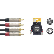 View and buy Stagg N-Series Twin RCA Cable 3m online