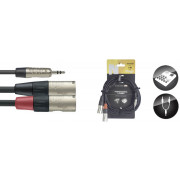 View and buy Stagg NUC3/MPS2XMR Minijack to Stereo XLR Male Cable 3m online