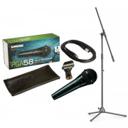 View and buy Shure PGA58 Vocal Microphone with XLR Cable & Microphone Stand online