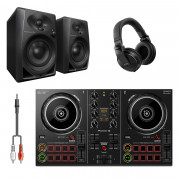 View and buy Pioneer DDJ-200 DJ Package with DM40 Monitors, HDJ-X5 Headphones & Cable online