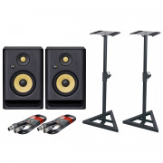 View and buy Krk Rokit 5 G4 Pair with XLR Cables & Stands online