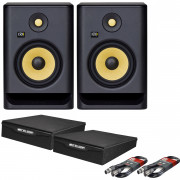 View and buy KRK Rokit 7 G4 Pair with XLR Cables & Isolation Pads online