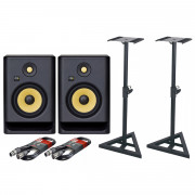 View and buy KRK Rokit 7 G4 Pair with XLR Cables & Stands online
