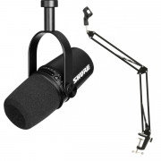 View and buy Shure MV7 Podcast Microphone Black With Studio Arm online