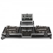 View and buy UDG Ultimate Flight Case Set Multi Format Turntable Battle Mixer Silver Plus U92050SL online