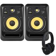 View and buy KRK V8S4 Studio Monitors with KNS6400 Headphones online