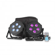 View and buy American DJ VPAR PAK LED Par Can Twin Pack Inc Bag And Remote online