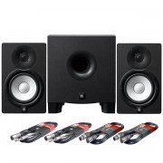 View and buy Yamaha HS7 Studio Monitors + HS8S Subwoofer + Cables online
