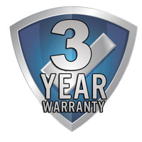 This product is covered by a 3 year warranty