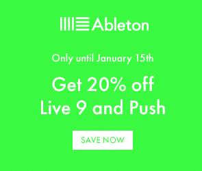 save 20% on Ableton Live
